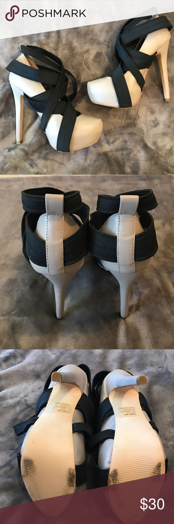 Colin Stuart for Victoria's Secret heels Grey with black elastic straps, very sexy and comfortable Colin Stuart Shoes Heels