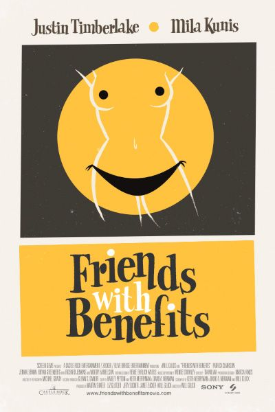 Friend with Benefits poster for Empire Magazine - Olly Moss