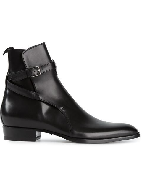 Shop Saint Laurent 'Hedi' ankle boots in Stefania Mode from the world's best independent boutiques at farfetch.com. Over 1500 brands from 300 boutiques in one website.