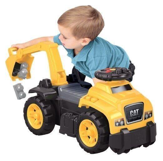 Kids Rider Excavator Car Caterpillar Toddler Construction Truck Realistic Sound