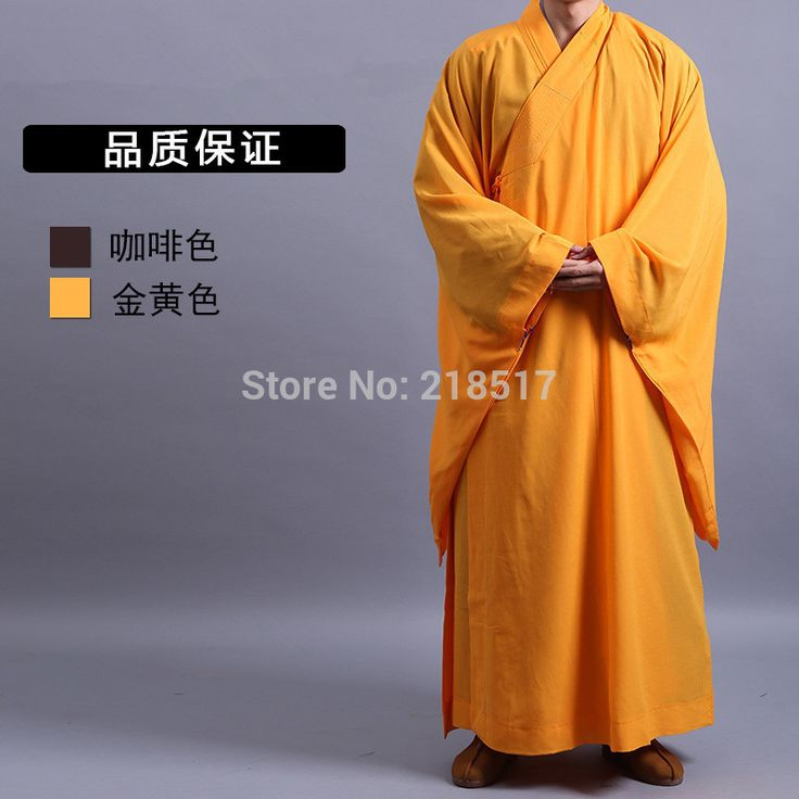 Unisex Haiqing lay clothes Shaolin Temple costume Buddhist Robe Zen Clothes Buddhism Meditation Monk clothes Lay Monk costume