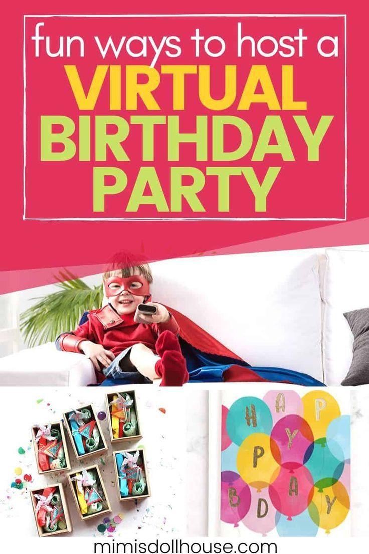 Fun virtual birthday party ideas you can do while social