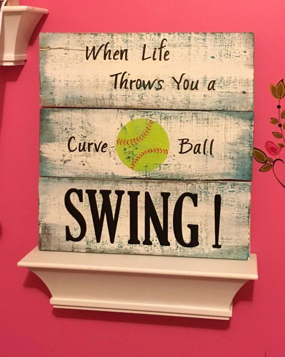 Softball Inspirational Sign by TamieMarieDesign on Etsy