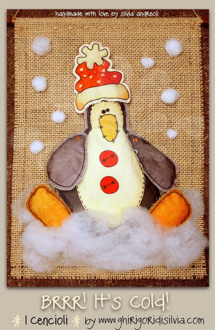 Cenciolo BRRR! IT'S COLD! by Ghirigori di Silvia di GhirigoridiSilvia su Etsy