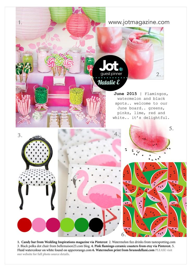 A Gorgeous New Mood Board Has Been Revealed Over At Jot Magazine I Couldnt Go Past Adding Foiled Hot Pink Flamingo Using My Heidi