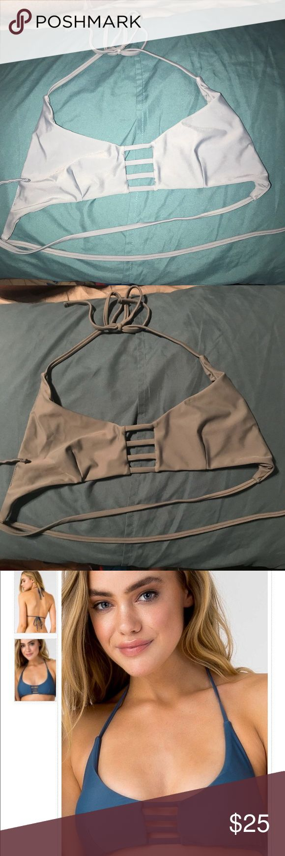 Gray Journey Bikini Top // Sheridyn Swim Journey bikini top from Sheridyn Swim. Size medium. Small cut on the side of the inside of the top where i took out the padding inserts. Great condition and super cute !! $50 on the website. Will bundle with the same top in navy. Sheridyn Swim Swim Bikinis