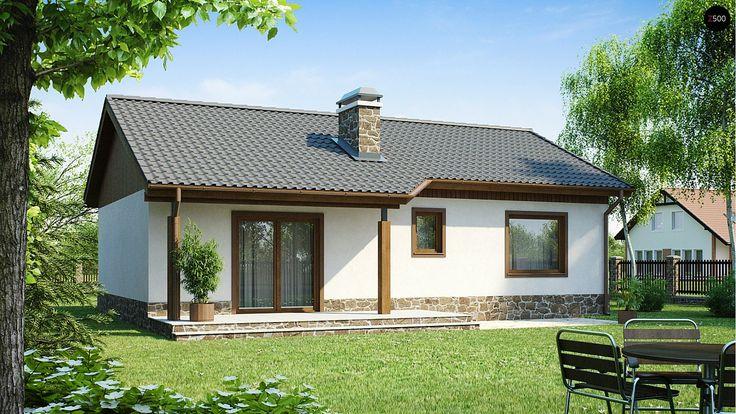 ПроектZ72 — это экономичный в реализации одноэтажный дом с просторной гостиной и двумя спальнями. Несмотря на свои небольшие габариты, дом уютный, функциональный и достаточно привлекательный.