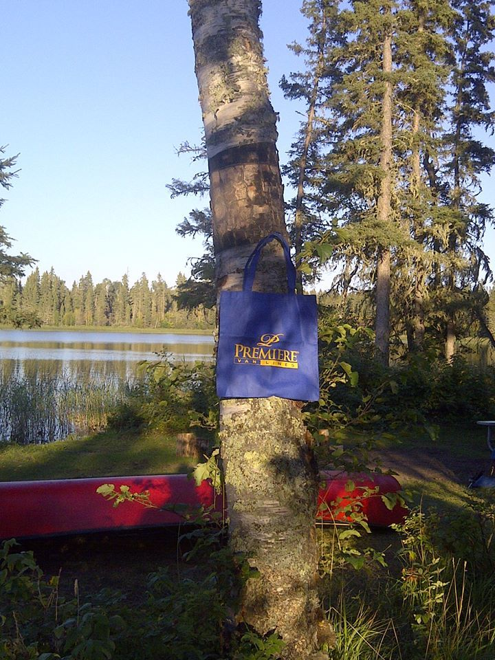 Our Blue Bag went in a back country canoe trip, Bagwa Lake Prince Albert National Park Sept. 1, 2013