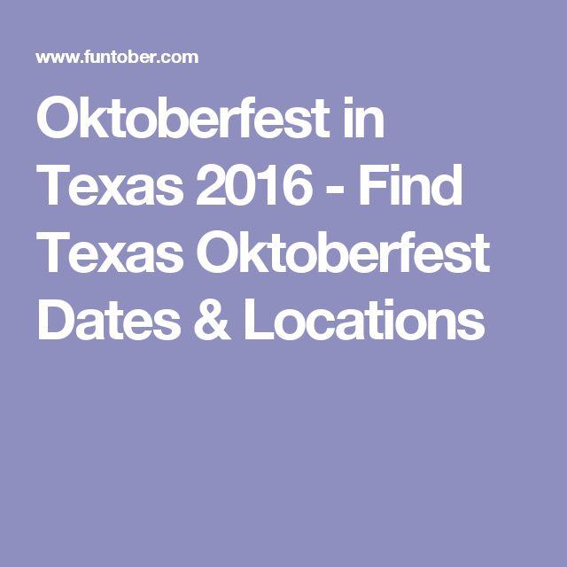 Oktoberfest in Texas 2016 - Find Texas Oktoberfest Dates & Locations