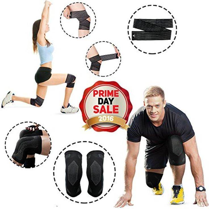 Knee Sleeve Package - Knee Compression Sleeve & Elastic Breathable Knee Wrap - #1 Unisex Recovery Sleeve & Leg Compression Socks For Maximum Patella Protection (Large) - Brought to you by Avarsha.com