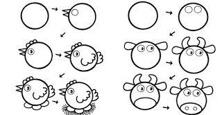 10 Desenhos fáceis de fazer com as crianças