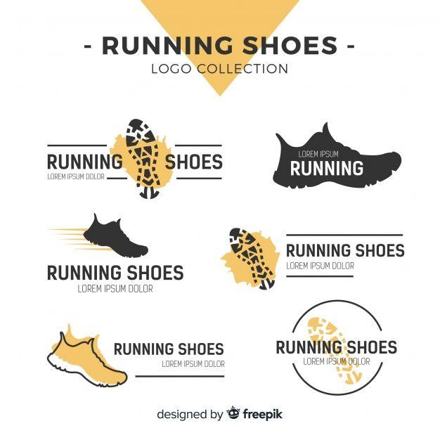 Colección moderna de plantillas de logos de zapatos de deporte vector  gratuito b22ba56d05c15