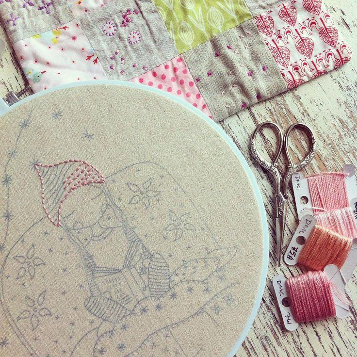 Today's stitching #nightnight #embroidery @lilipopo