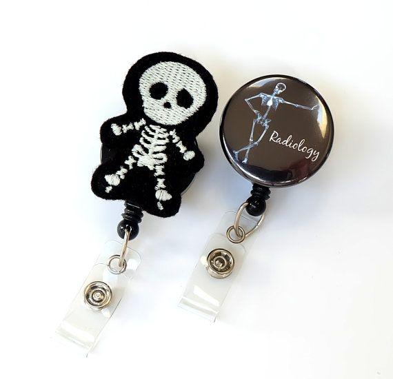Radiology Nurse Gift Set - Felt Badge Pull - Radiologist Gift - Rad Tech Badge Holder - X Ray Badge Reel - Radiology Tech Gift - BadgeBlooms (Scrub Tech Gifts)