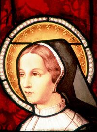 St. Jane Frances de Chantal - French, married nobleman- six sons- When husband died she embraced life of service to poor and sick- Guided by St. Francis de Sales- Founded Visitation Order- Feast Day December 12