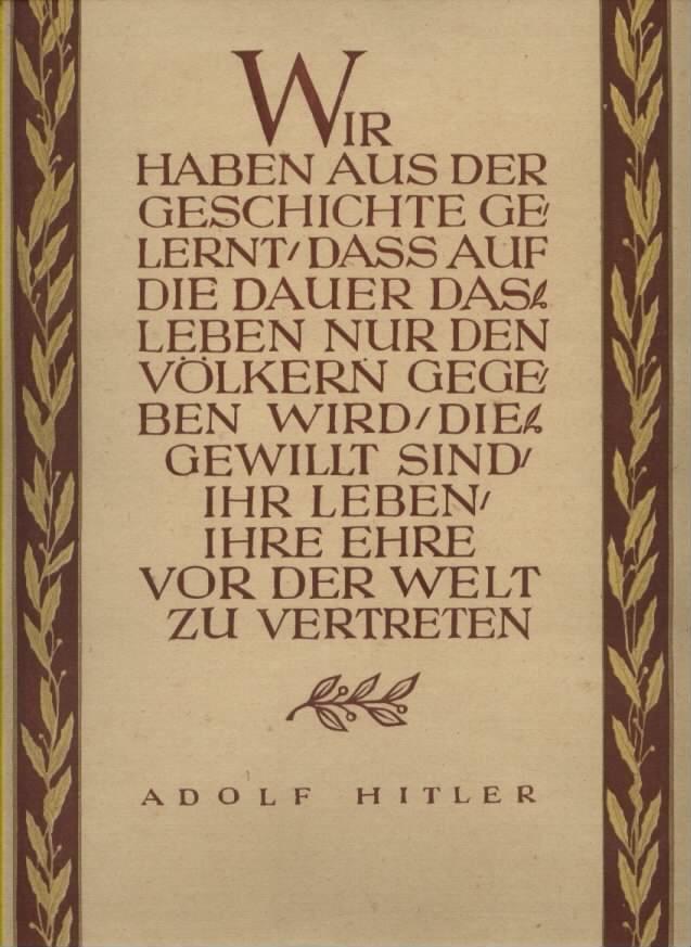 Wochenspruch der NSDAP Reichspropagandaleitung ,November 1941