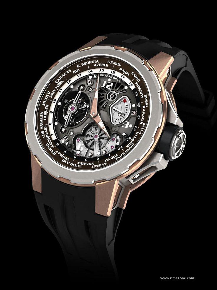 SIHH 2013: Richard Mille - Tourbillon RM 58-01 World Timer Jean Todt LE