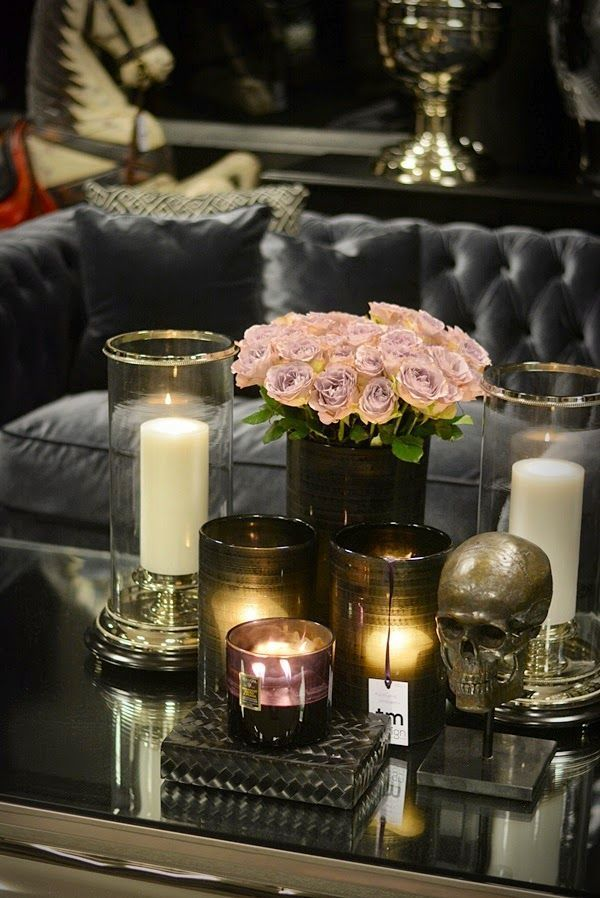 decorating for a glam halloween - Candles Home Decor