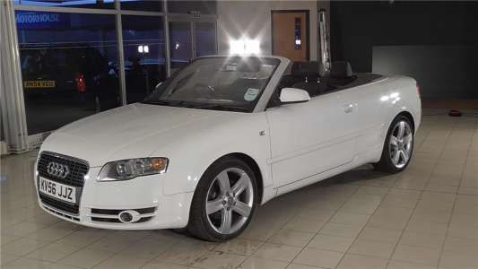 Used 2006 (56 reg) White Audi A4 1.8T 2dr Convertible for sale on RAC Cars