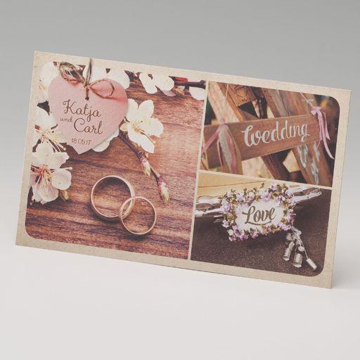 Hochzeitseinladungen im Stil einer Postkarte bestellen