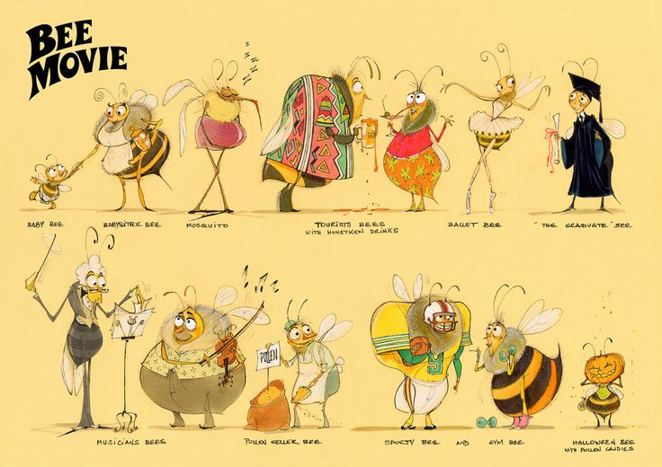 Carlos Grangel concept art for Bee Movie ★ || CHARACTER DESIGN REFERENCES (pinterest.com/characterdesigh) • Do you love Character Design? Join the Character Design Challenge! (link→ www.facebook.com/groups/CharacterDesignChallenge) Share your unique vision of a theme every month, promote your art, learn and make new friends in a community of over 12.000 artists who share the same passion! || ★