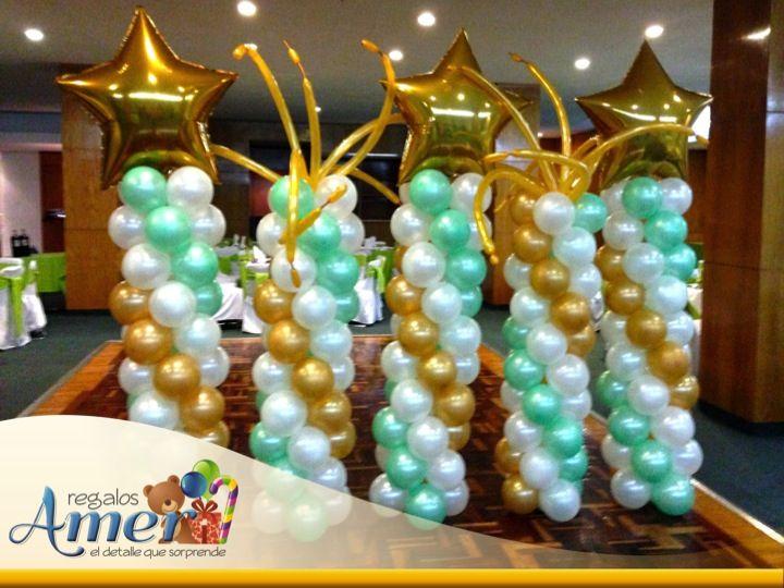 globos en evento cumple num