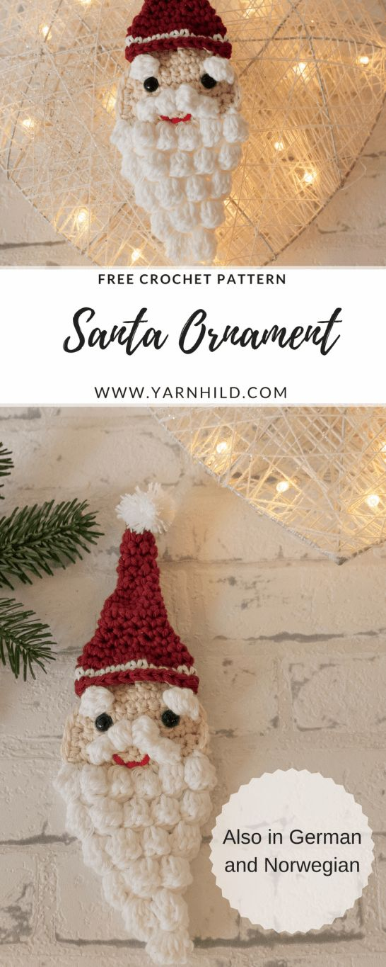 Christmas ornament. Free crochet pattern