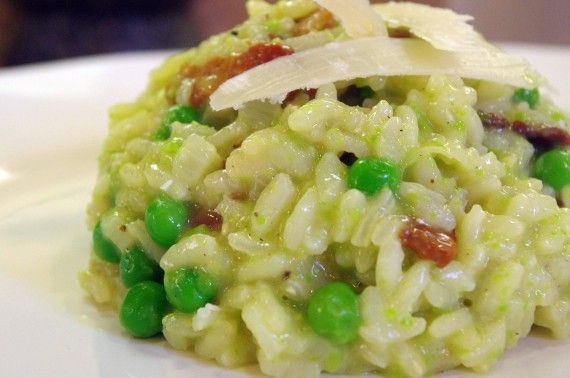 Pea & Bacon Risotto | Sides, Slaws, and Salads...Oh my! | Pinterest