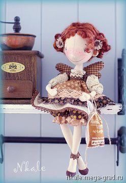 Кофейная фея Пенка - текстильные и тканые изделия, авторская коллекционная кукла. МегаГрад - online выставка-продажа авторской ручной работы