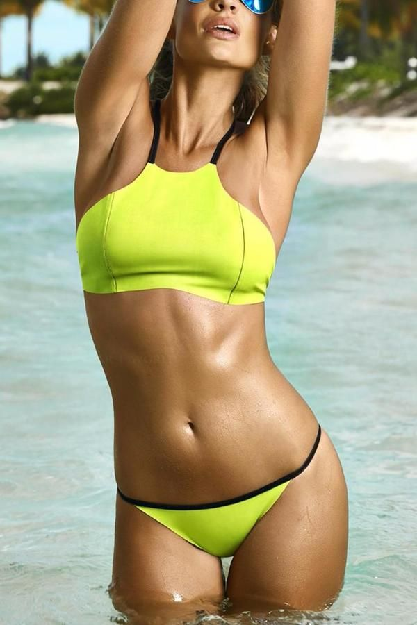 pilyq neoprene bikini reversible sunny shades pinterest action and bikinis. Black Bedroom Furniture Sets. Home Design Ideas