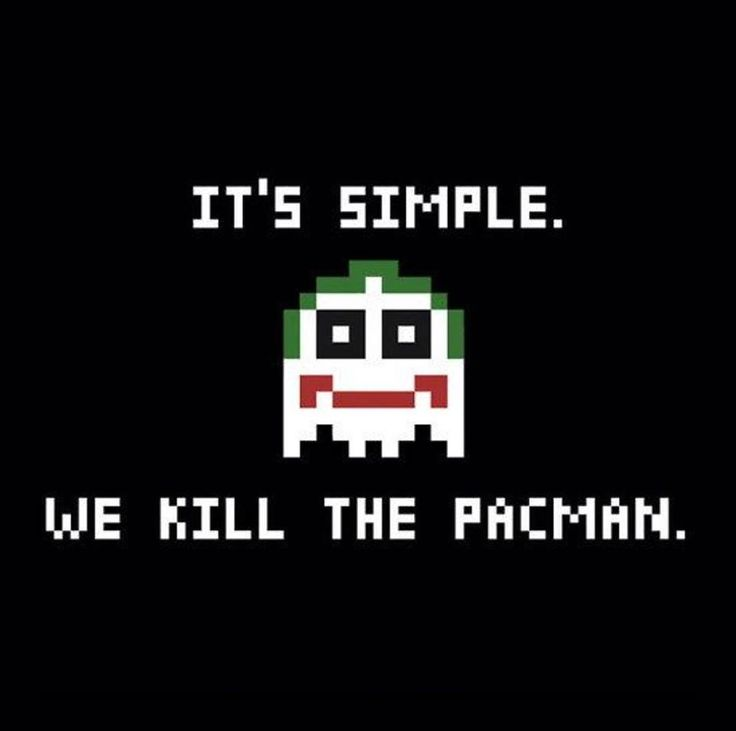 A new player has entered the game... We love this PAC-MAN / The Joker video game mash-up.