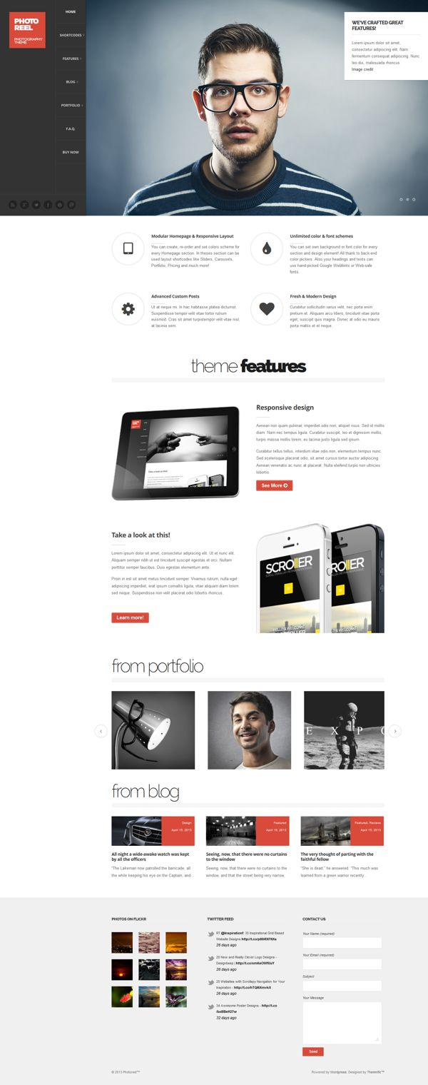 Photoreel - Elegant & Responsive Photography