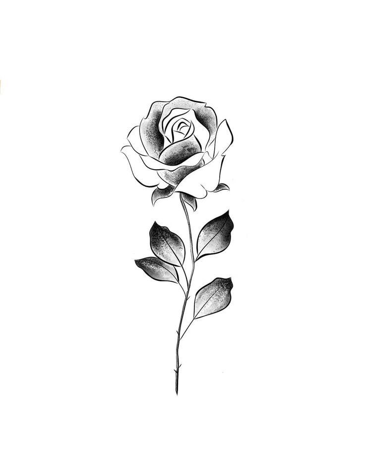 мини картинки для тату роза момент предполагаемой гибели
