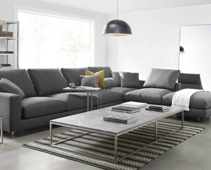 Grey modular sofa Sectional sofa Pinterest