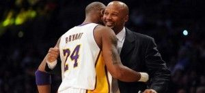 Brian Shaw and Kobe Bryant when Shaw was an assistant with the Lakers.  Shaw has been named head coach of the Denver Nuggets.  Follow the link attached to this image to read more. Be sure to 'like', share and leave a comment.