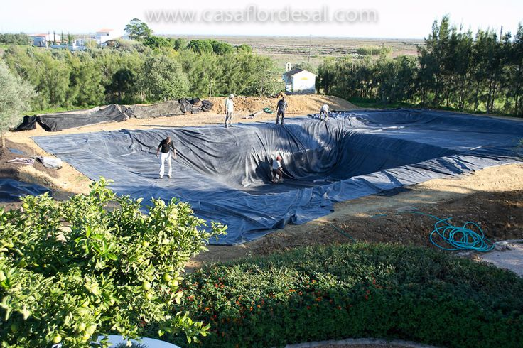 Swimming Pool Pond Liner : Building a natural swimming pool our