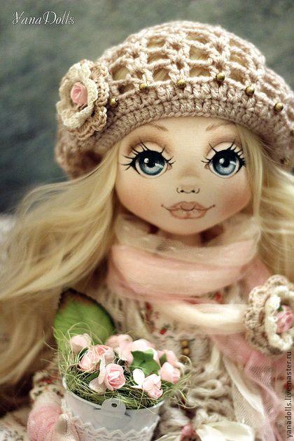 Valencia - бледно-розовый,кукла,кукла ручной работы,кукла в подарок,кукла интерьерная