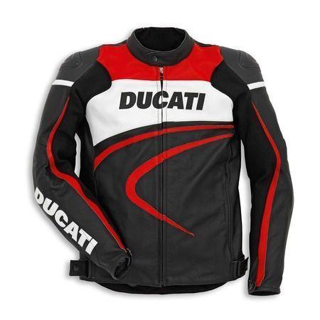 DUCATI MOTORCYCLE BLACK JACKETS, DUCATI MOTORBIKE JACKETS, DUCATI JACKETS