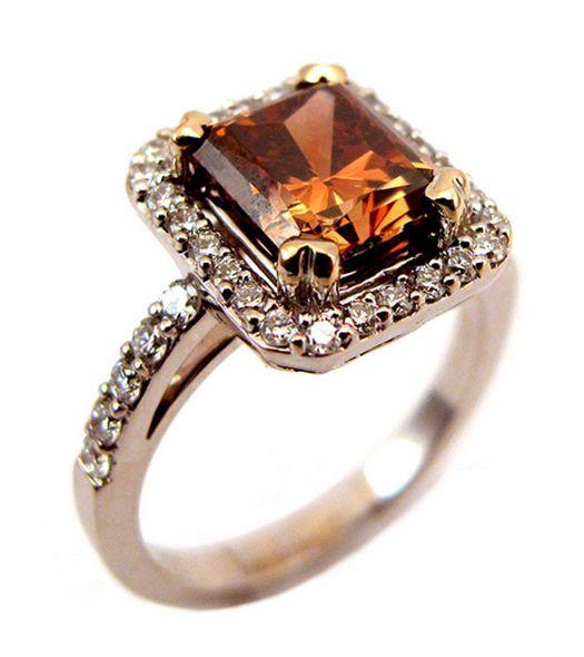 Dark orange brown diamond <3