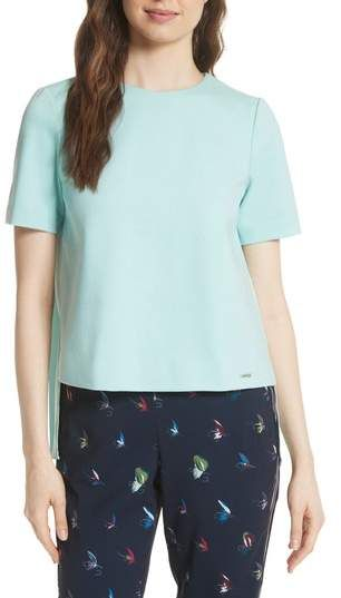 2d0580a204f782 Ted Baker London Colour by Numbers Naevaa Pleat Back Top ...