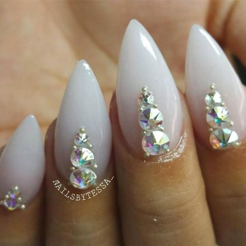 16 Best Diamond Nails! View them all right here -> | http://www.nailmypolish.com/diamond-nails/ | @nailmypolish