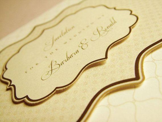 Elizabeths Classic Wedding Invitation Card in Box // by BudapestWP, $5.95