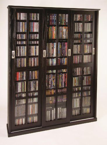 Sliding Door Inlaid Glass Mission Style Multimedia Cabinet MS1050 Series  Espresso U003eu003eu003e Click Image