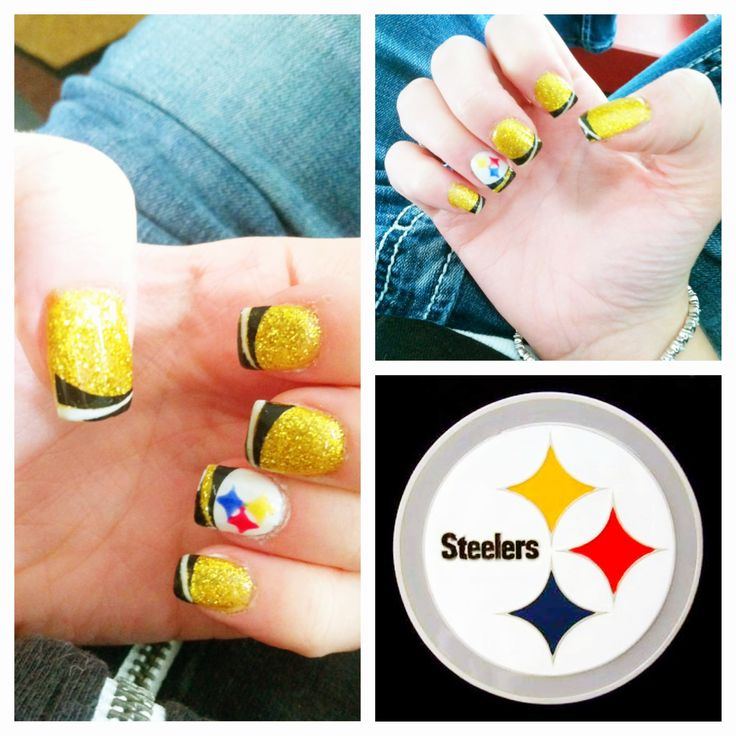 Steeler Nation! Football nails pittsburgh steelers Montana