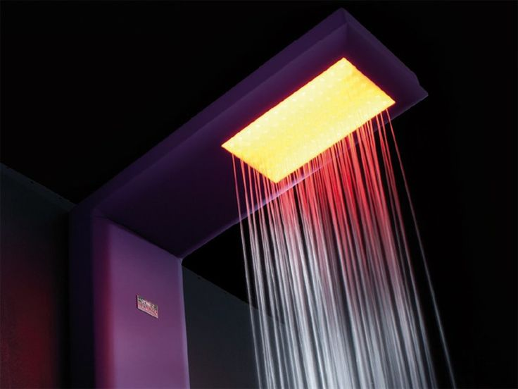 Multifunction shower column with chromotherapy by HAFRO