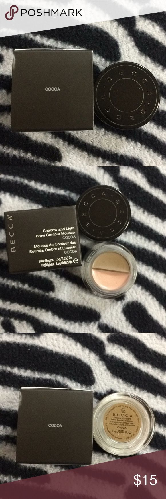 Becca Shadow and Light Brow Contour Mousse Brand New In Box. Just taken out of the box for pictures. BECCA Makeup Eyebrow Filler
