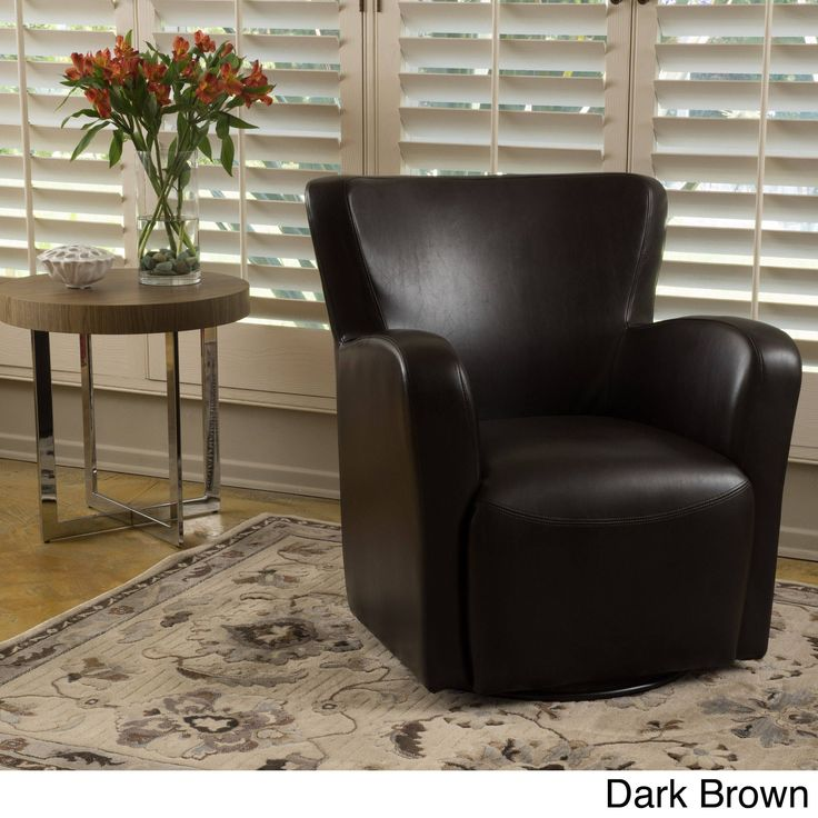 Angelo Wingback Swivel Club Chair by Christopher Knight Home