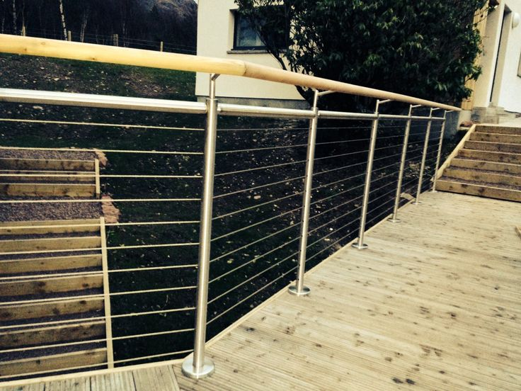 wire rope balustrade to ramp