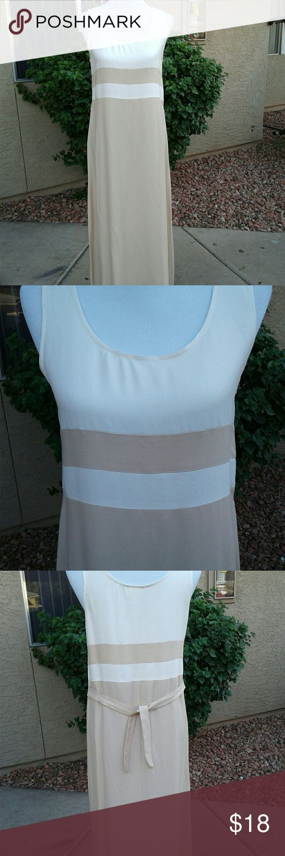 CREAM/BEIGE DRESS SIZE SMALL NWOT THIS DRESS HAS NEVER BEEN WORN... GORGEOUS SUMMER DRESS...SIMPLE YET CLASSY... GREAT FOR CHURCH NIGHT OUT DRESS IT UP WITH HEELS OR CASUAL WITH SANDALS CONNIE CHOI Dresses Maxi