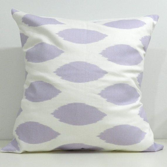 Handmade Pillow Cases in lavender ikat